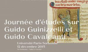 Journée d'études sur Guido Guinizzelli et Guido Cavalcanti