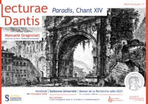 Lecturae Dantis : Paradis, Chant XIV, avec M. Gragnolati